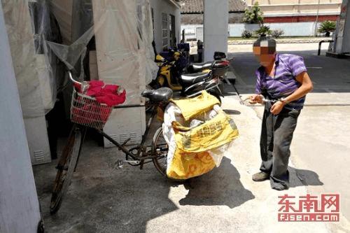 残疾男子半夜捡废品 顺手牵羊 偷货车电池被抓