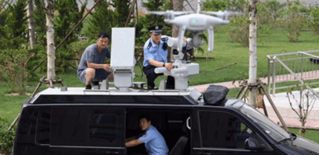 天津警方装备无人机反制车 投入全运会安保工作