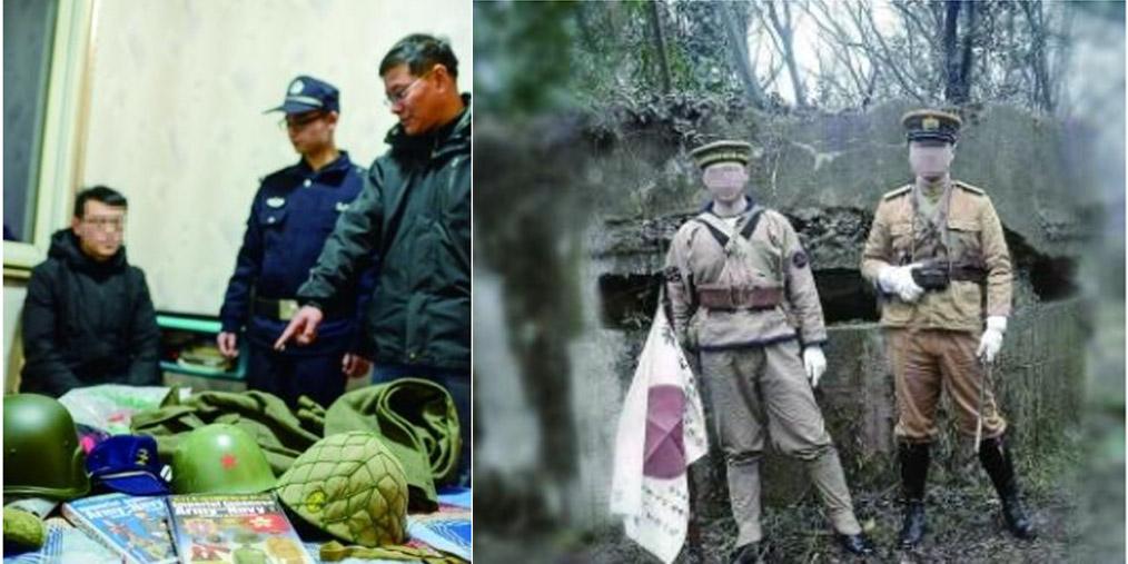 扮日军拍照男子被拘 曾欲去中山陵