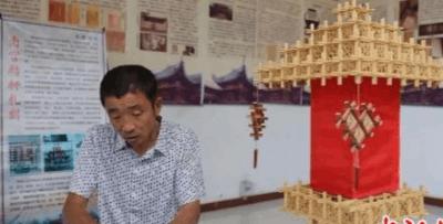 南宫一农民复活传统技艺 高粱杆编就梦想