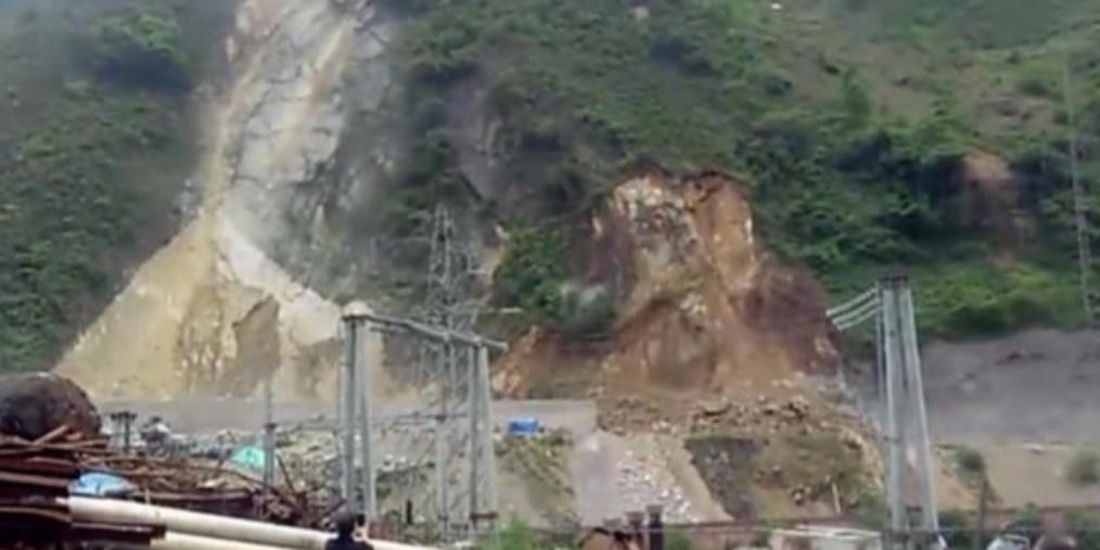 乐山马边发生山体滑坡 交通中断无人伤亡