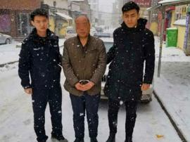"""渑池县法院执行干警冒雪抓""""老赖"""""""
