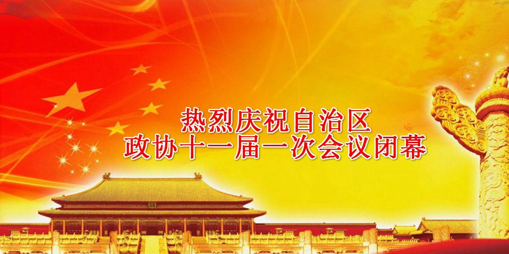 热烈庆祝自治区政协十一届一次会议闭幕