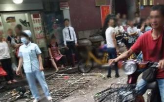 福州十中对面民房防盗网被炸开 多位伤者被紧急送医