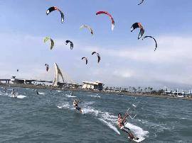 世界百名运动员将齐聚东山岛 角逐国际风筝冲浪赛