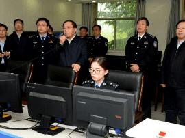 运城市委书记刘志宏到交警支队督查十九大安保工作