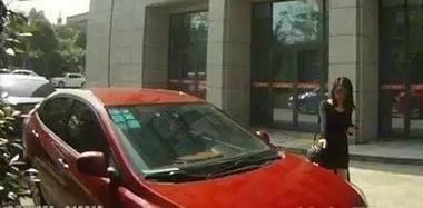 女子报警称车被撞 警察到场发现其竟认错车