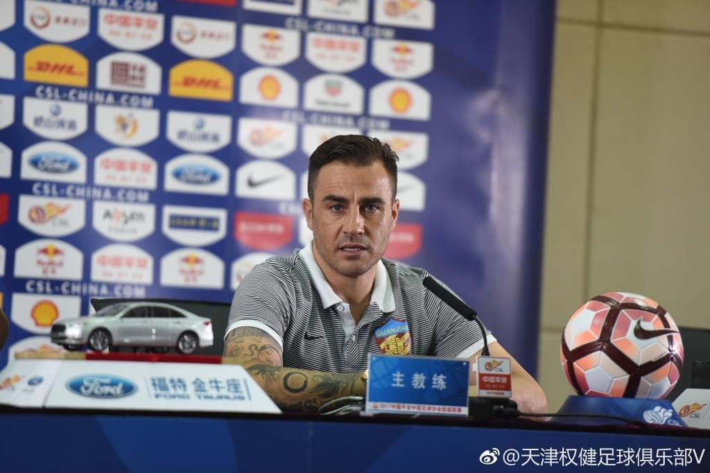 卡纳瓦罗:让比赛少的球员更多出场 为下赛季准备