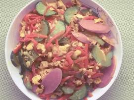 百变味蕾系列:鸡蛋黄瓜再配上胡萝卜和它