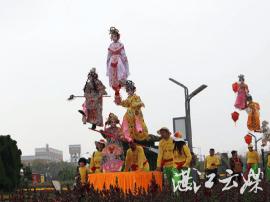 国家级非物质文化遗产吴川飘色首次在上海巡演
