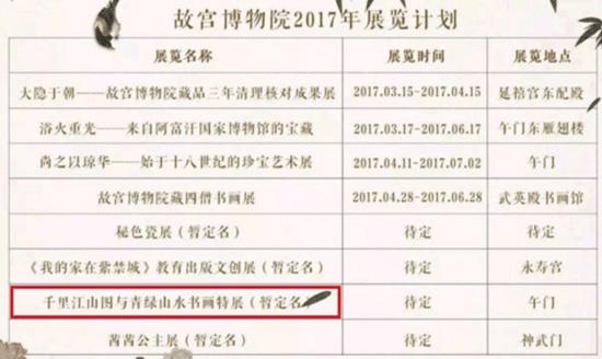 王希孟《千里江山图》将于9月在午门展出
