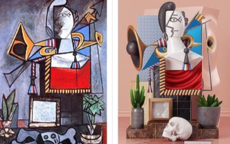 毕加索的绘画被重新营造视觉体验
