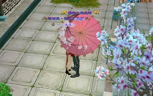 天龙八部花式打伞秀恩爱 教你正确使用玉隐桃芳