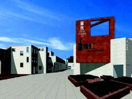 青岛纺织博物馆大部分已完工 5月将开门纳客