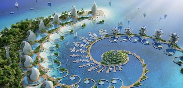建筑师设计生态度假村 建筑随太阳旋转