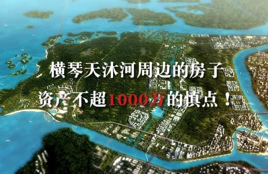 横琴天沐河周边的房子 资产不够1000万的慎点