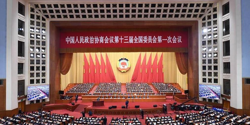 政协十三届一次会议第三次全体会议