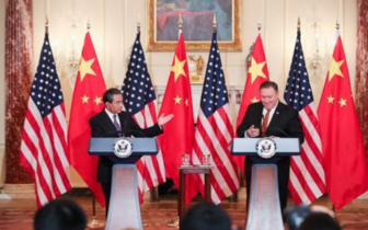 王毅在华盛顿会见美国务卿蓬佩奥