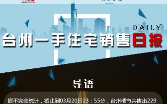 2018年3月20日台州市一手住宅成交229套