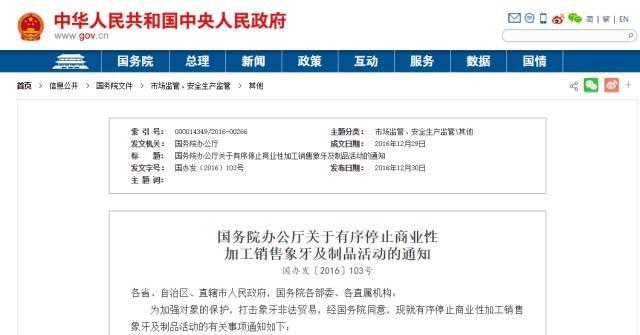 中国宣布向这个上百亿美元的生意说NO