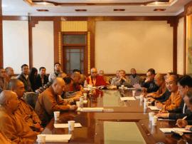 五台山佛教协会召开2017年九月份全山例会