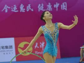 全运会艺术体操项目个人全能赛 刘佳慧摘铜