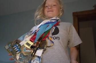 单板滑雪神童9岁完成后空翻两周