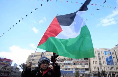 巴勒斯坦民众举行街头抗议活动