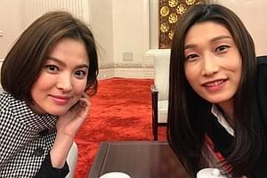 韩排球女皇参加晚宴 与宋慧乔同框