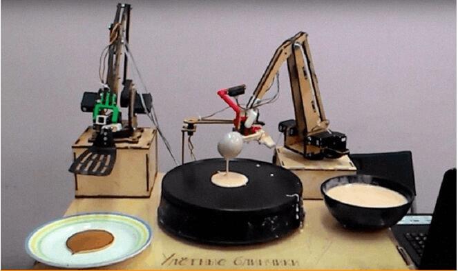 吃货新福利 莫斯科启用首款烙饼机器人