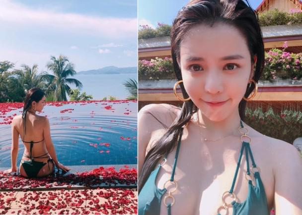 柯震东前女友李毓芬33岁生日穿比基尼超性感