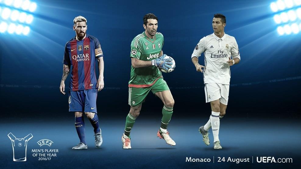 欧足联公布赛季最佳球员三大候选:梅西布冯C罗