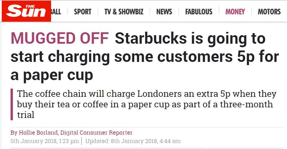 伦敦星巴克涨价!原因竟是中国去年宣布的这件大事