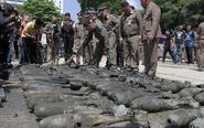 泰国一工地现上百枚炸弹