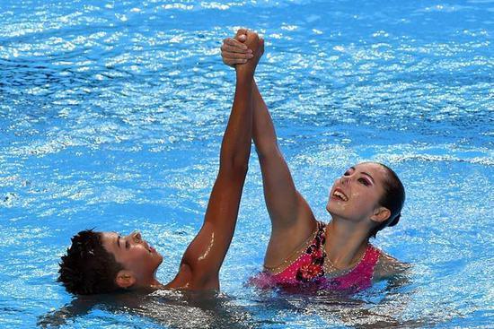世锦赛花游混双中国组合排第八 俄意美分列前三