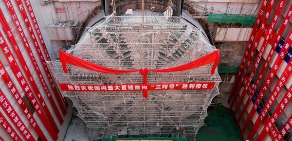 中国最宽江底隧道 建成后上跑汽车下行地铁