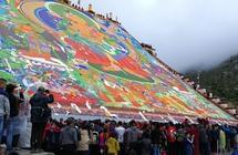 """西藏拉萨雪顿节如何""""展佛""""?"""