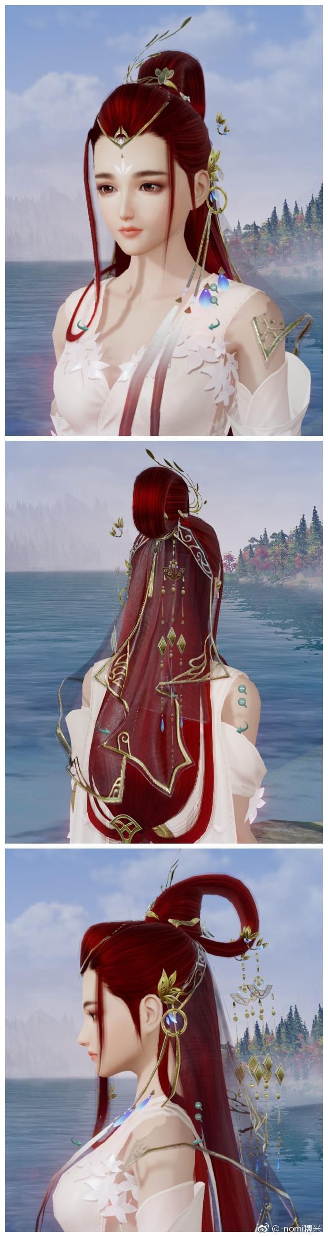 《剑网3》重制版成女金发红发图 六红效果一览