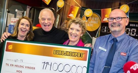 丹麦夫妇中1.14亿欧元彩票大奖
