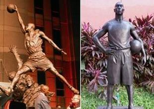 """NBA铜像:KB""""现身""""中国"""