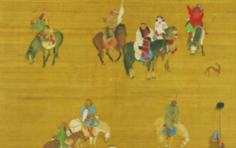 元世祖出猎图 研究元前期人物肖像画的重要资料