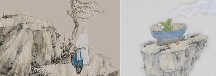 老树画画:现代科技走入深山老林