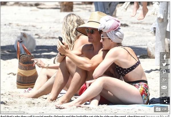 一夜情后改搭前女友闺蜜 奥兰多裸身海边紧靠她