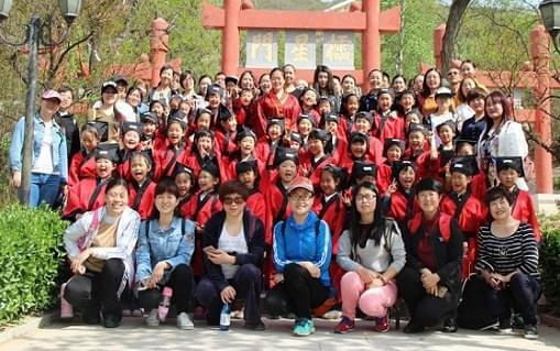 国际城小学一(3)班走进封龙书院活动