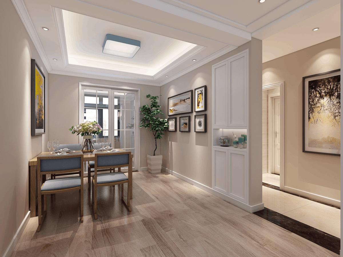 绿都紫荆华庭126㎡三居室现代风格
