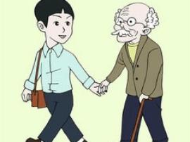 长春女环卫工搀扶赤脚盲人等公交车
