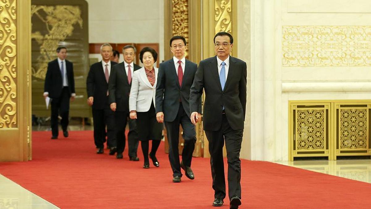人大会议闭幕后 李克强和4位副总理亮相