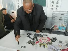 """永济:""""德孝张营""""农民书画展绘出农村新风貌"""
