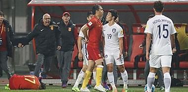 韩国球员出黑脚 冯潇霆为队友出头险冲突