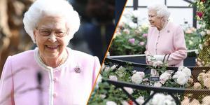 92岁英国女王也有少女心 全粉LOOK超粉嫩